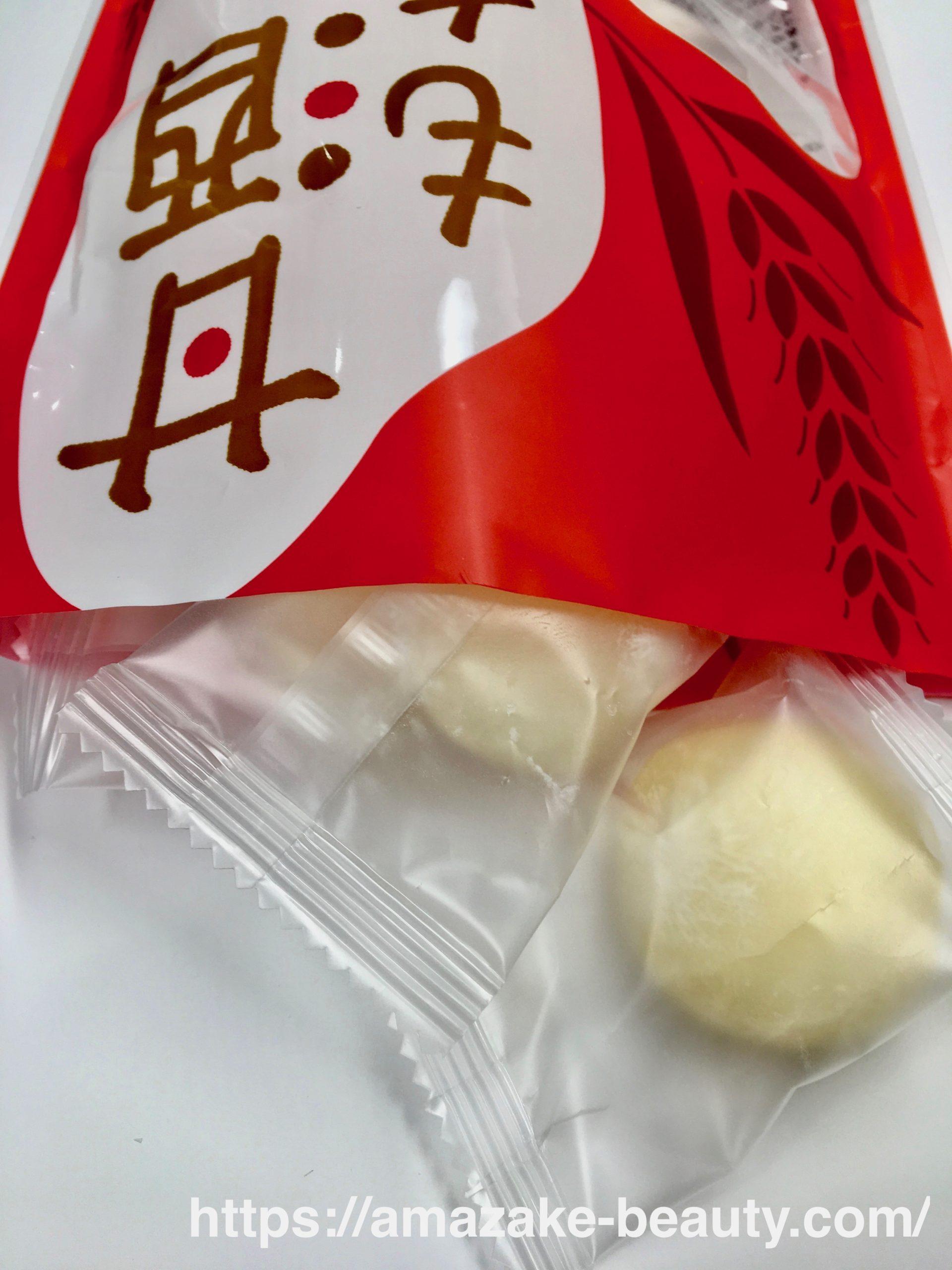 【甘酒甘味】もへじ『甘酒もち』(パッケージの中身)