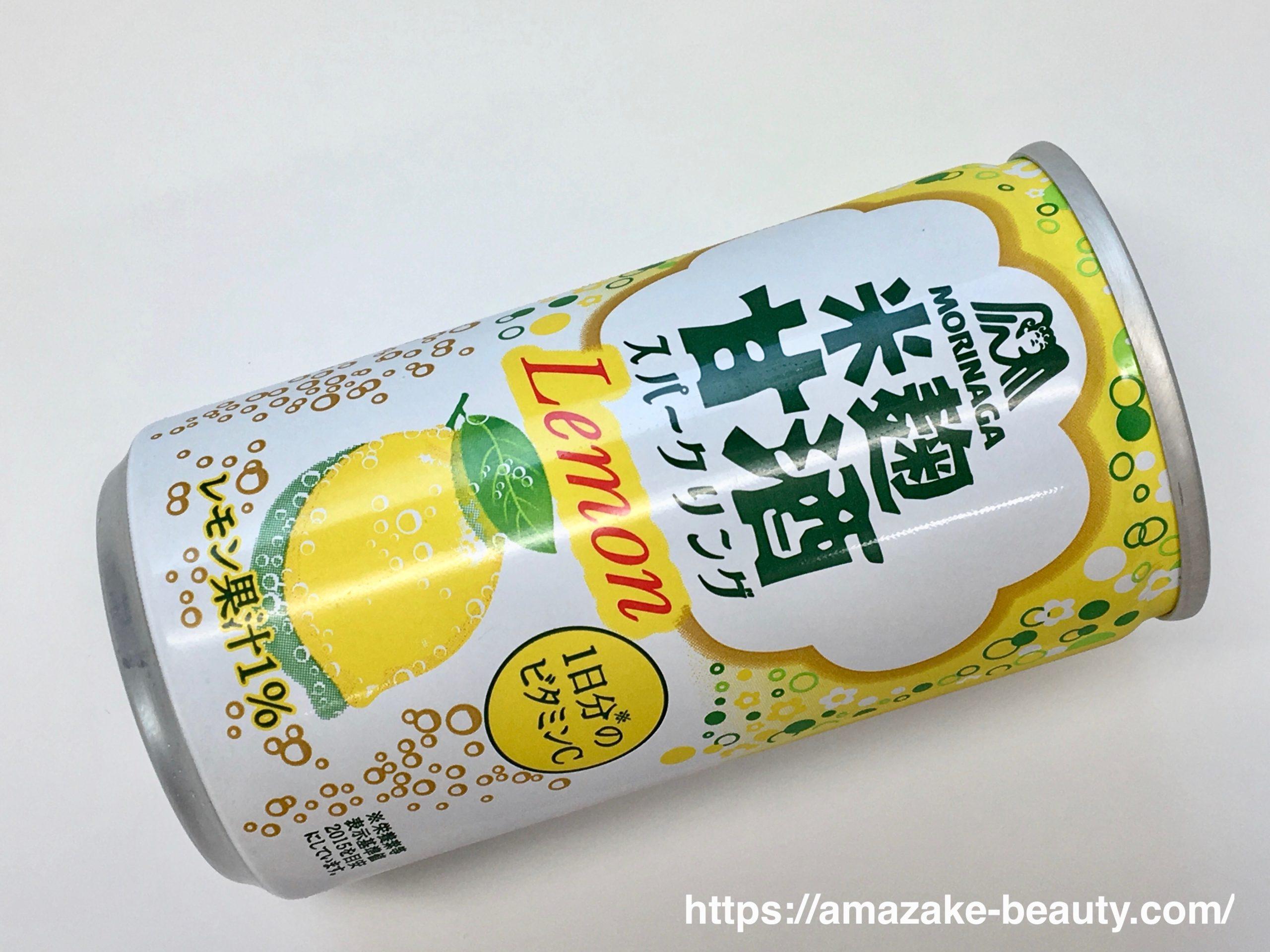 【甘酒】森永製菓『米麹甘酒スパークリングレモン』