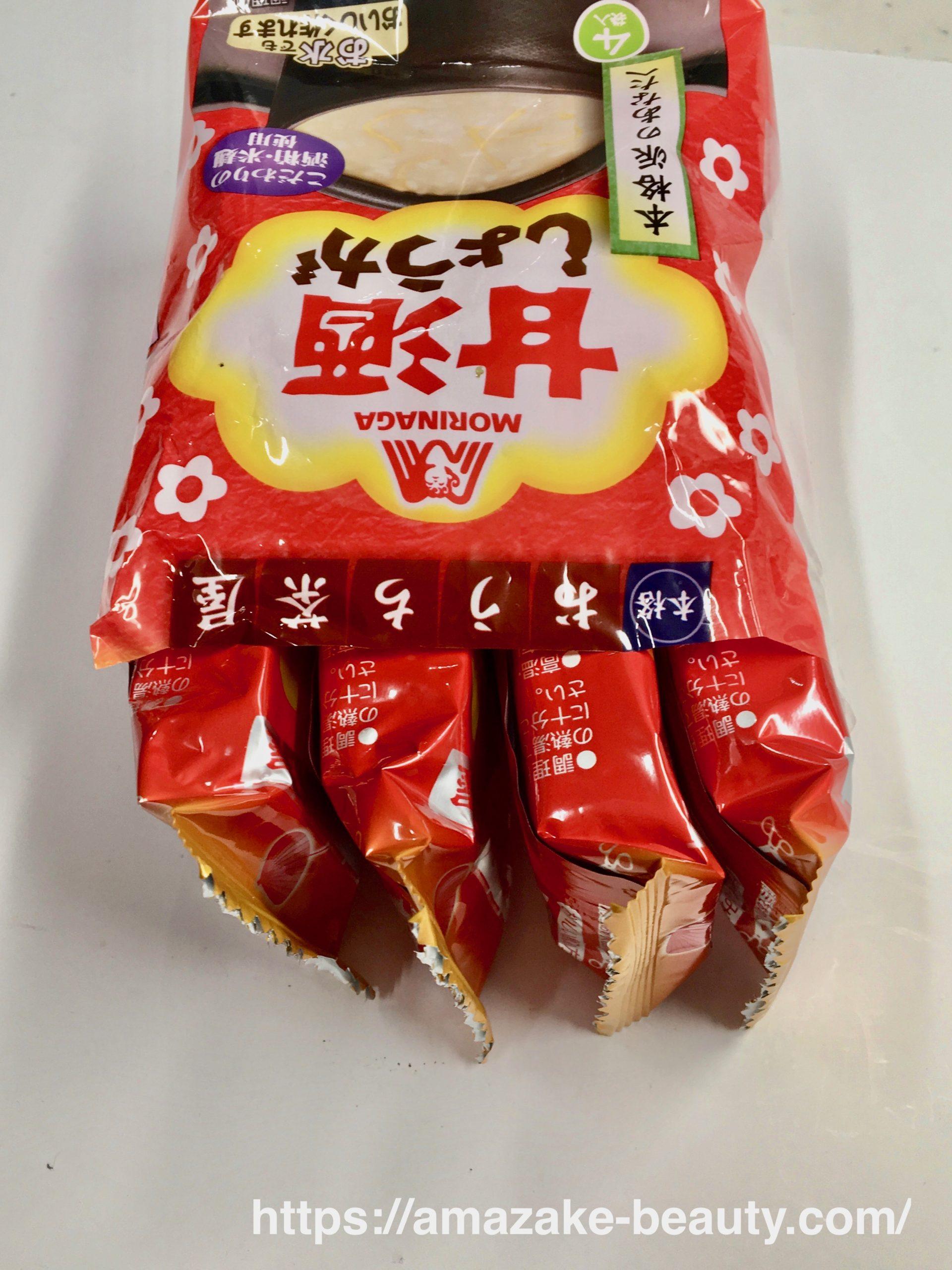 【甘酒】森永製菓『甘酒(しょうが)』(パッケージの中身)