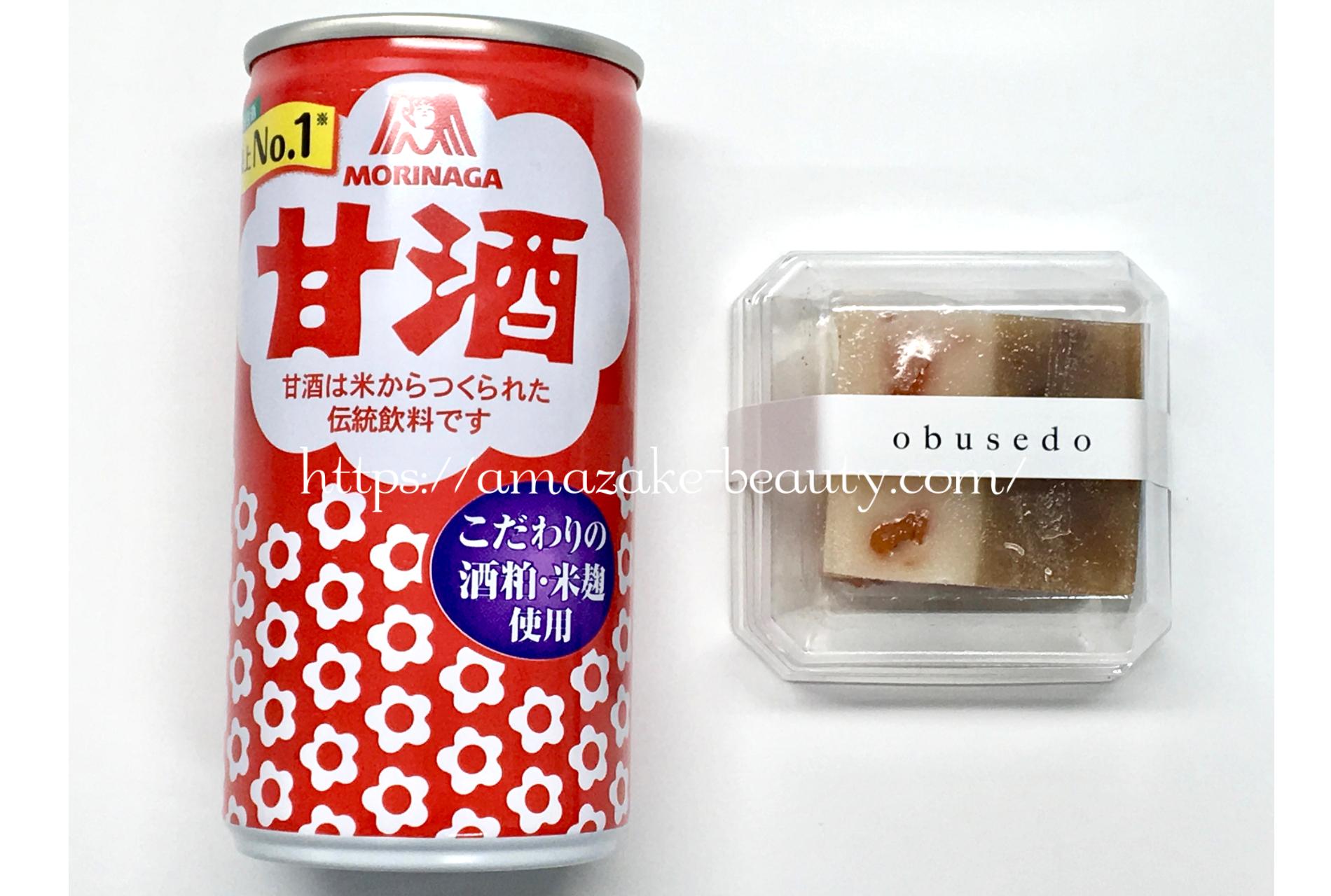 [amazake sweets]obusedo[amazake yokan to kuri yokan](collaboration)